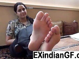 Amateur Indian foot fetish