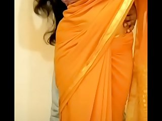 Punam in yellow saree boobs squeezed, sucked and cummed on face. Full video available at Full video available at  tinyurl.com/punambhabi2