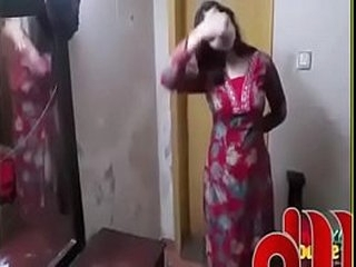 Beautiful  Pakistani Girl changing dress in room - YouTube (360p)