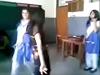 Pakistani Girl Dance in front of Boys In Classroom