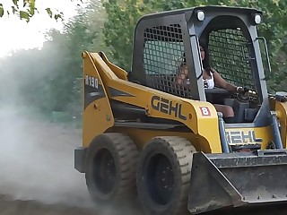 Sexy Indian Girl Driving Bobcat - Maya