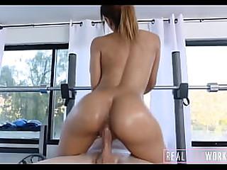 Petite Spanish Athletic Latina Tiny Girl Fucked During Exercising